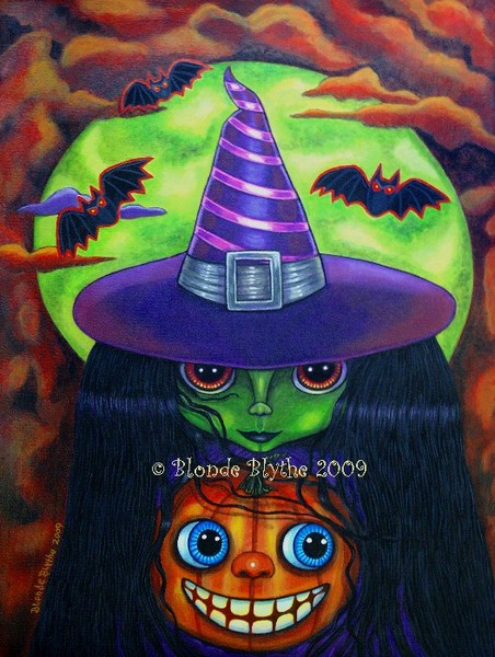 Pumpkin Witch Blythe Doll