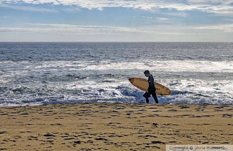 Surfer in Maine