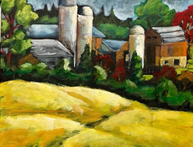 Barn and silos 3