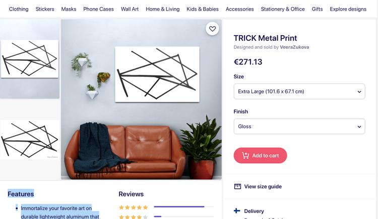 TRICK, redbubble.com print on metal. GO TO linktr.ee/veerazukova press REDBUBBLE