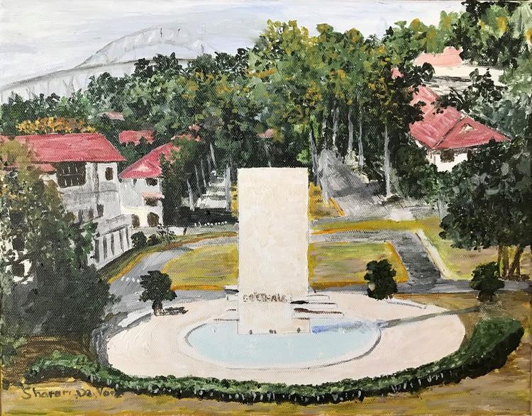 El Prado Balboa, Goethals Monument, Balboa Elementary School & Bridge of Americas
