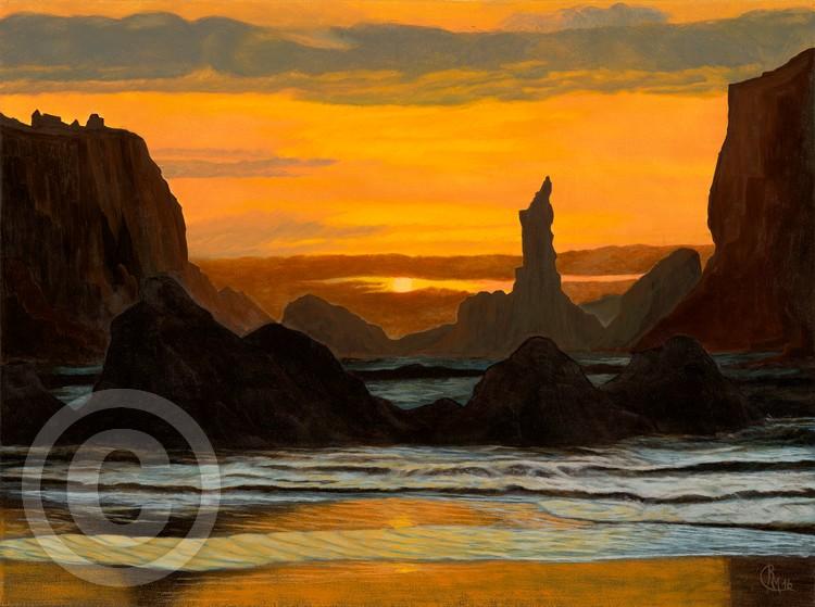 Sunset in the lagoon
