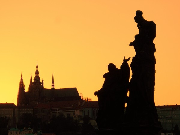 Sunset at Charles Bridge