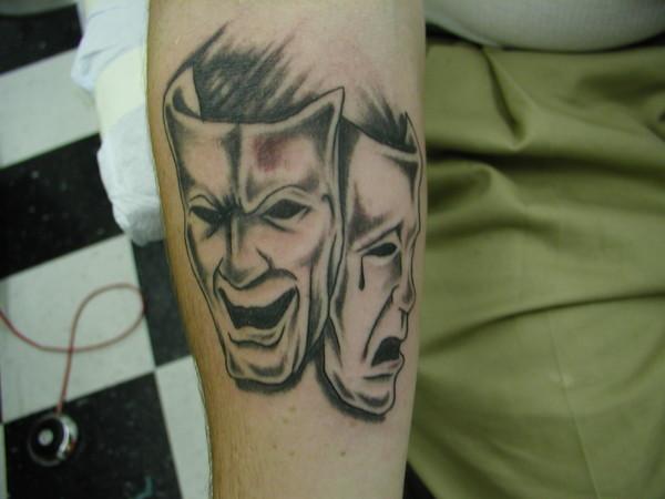 8bb7ae98855e4 happy/sad masks by ryan campbell | ArtWanted.com