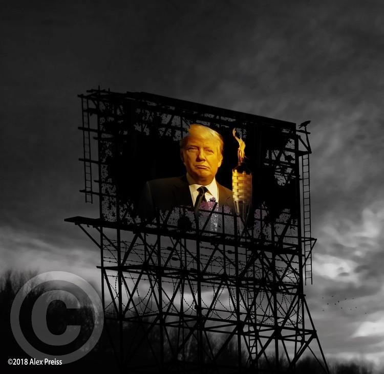 Trump Billboard Outside Blue Wave City .3