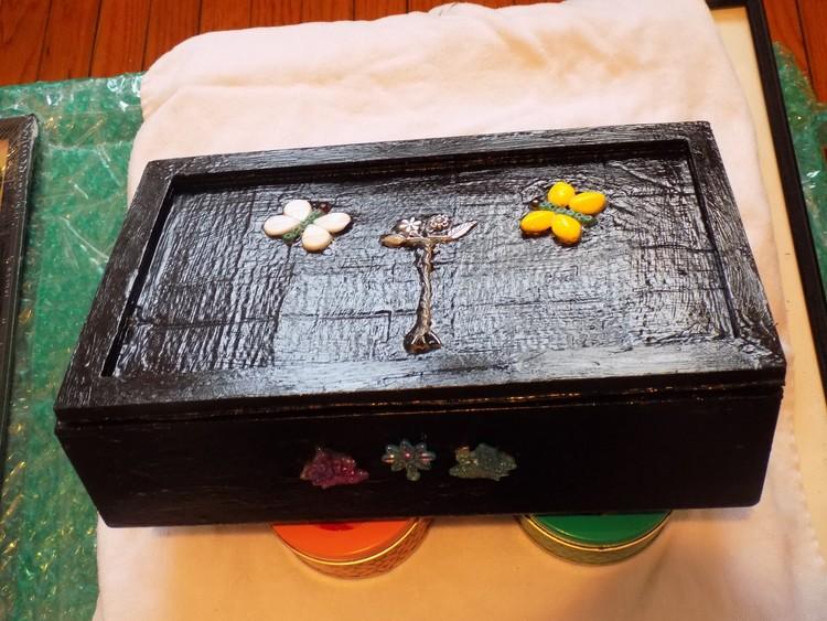 Upcycled Black Jewelry Box
