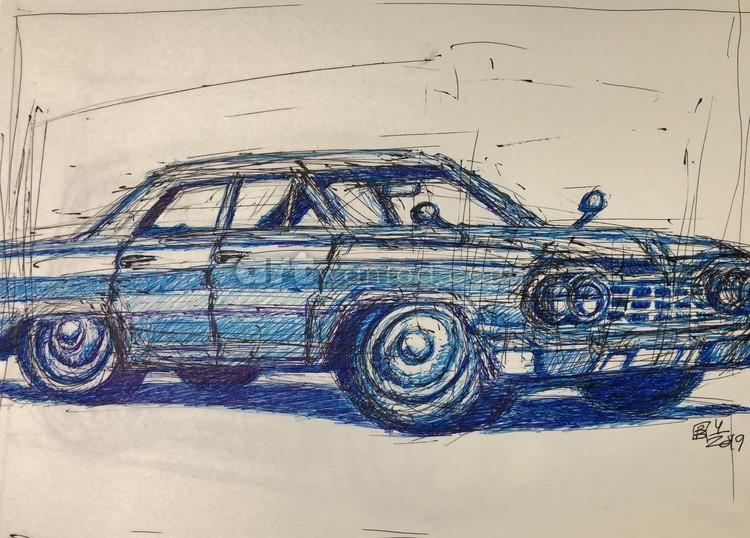 1960ish Boxy Car