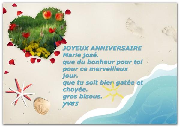 Joyeux Anniversaire Marie Jose By Yves Colas Artwanted Com