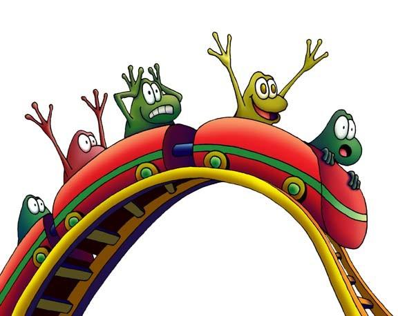 roller coaster frogs by daniel pagan | ArtWanted.com