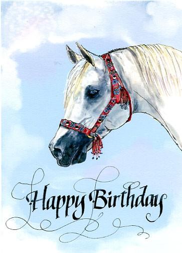 Happy Birthday Horse Card By Hilary Williams Artwanted