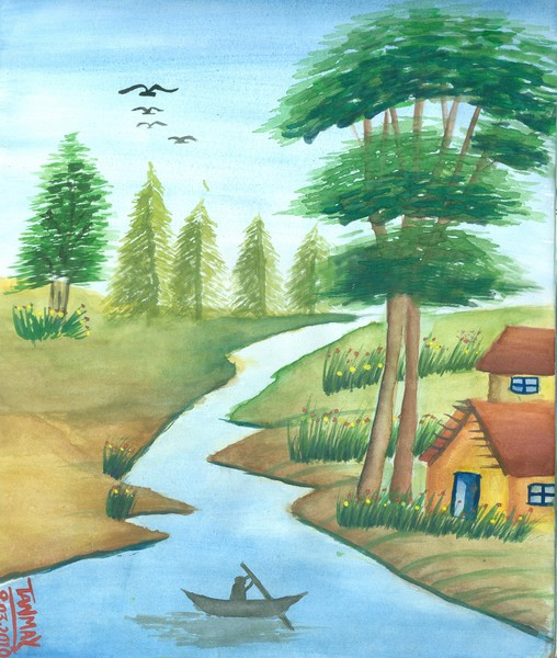 Poster Color Landscape By Tanmay Singh Artwanted Com