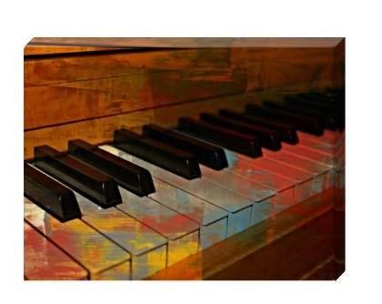Pop Art Paint That Piano - 16 x 12 Fine Art Galler