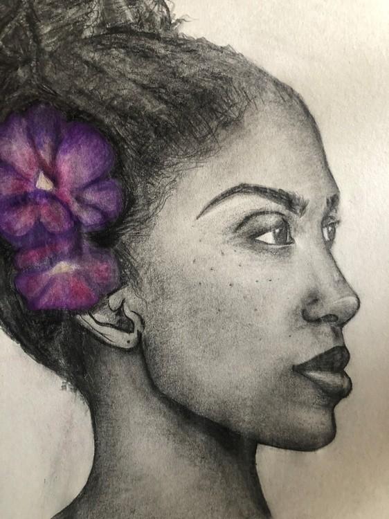 Violet Flower Girl