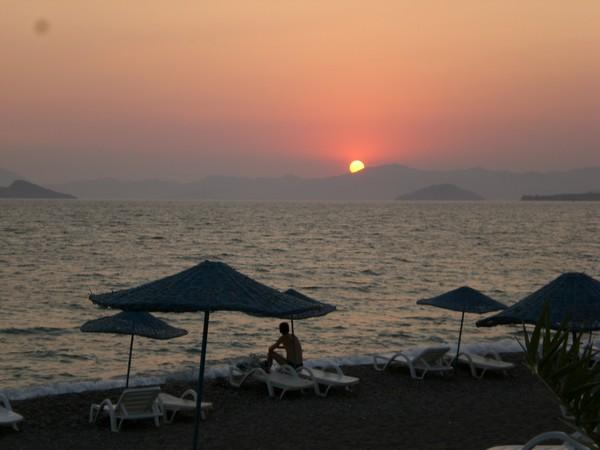 Sun set in Turkey