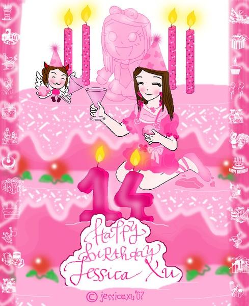 14th Birthday Card For Myself By Jessica Xu