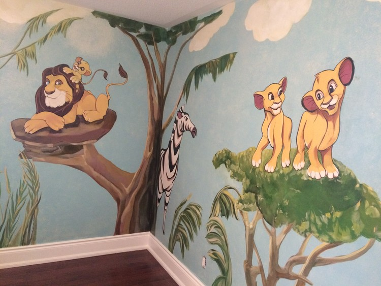part of the baby,s room mural
