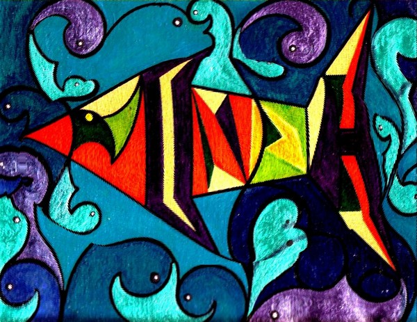 Belly of a fish. (Book of Jonah)