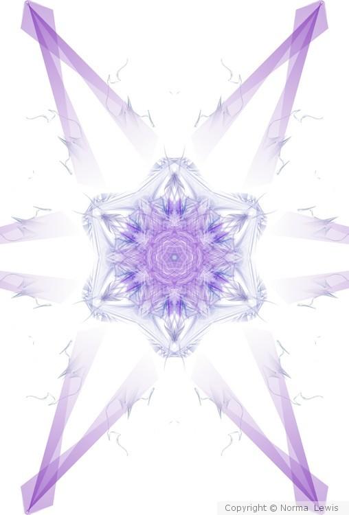 Draped in purple