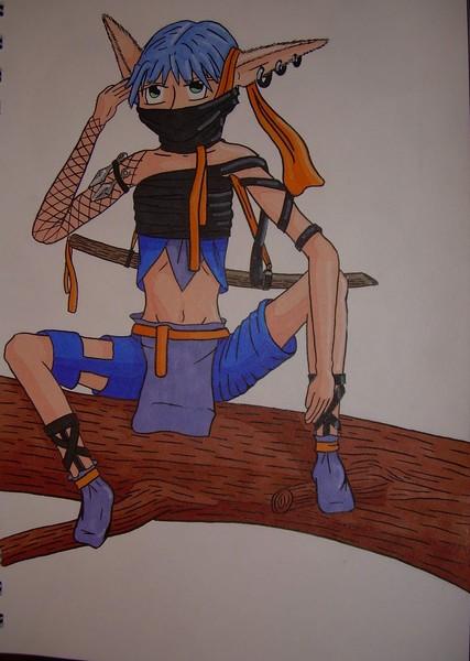 Blue Haired Elven Ninja
