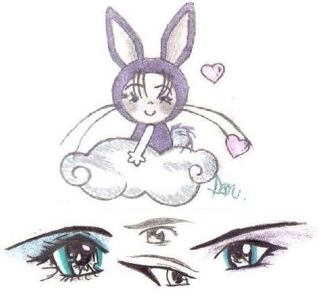 lil bunny girl & random anime eyes