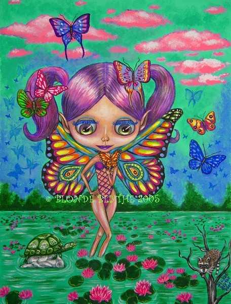 Butterfly Fairy Blythe & The Lily Pads