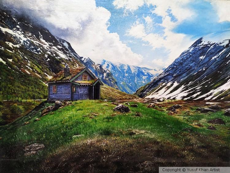 Landscape hut