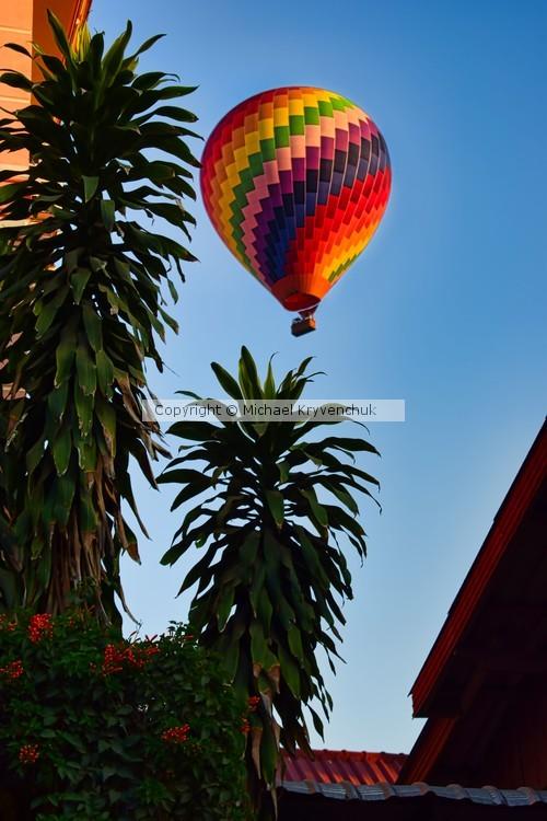 Ballooning in Vang Vieng