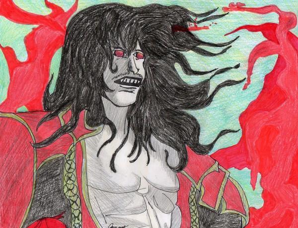 gabriel as dracula from castlevania