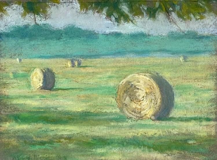 Kaufman County Hay  pastel 6x8  2003