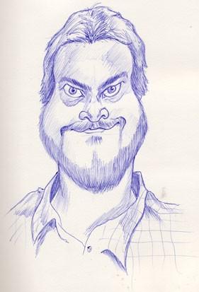 Jack Black Caricature