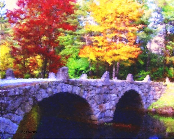 Fall Stone Bridge