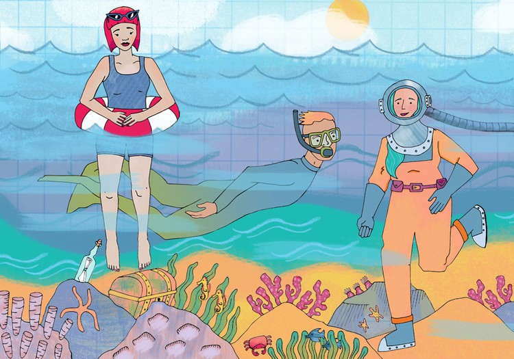 Seaside Characters (Website Landing Page) 2017