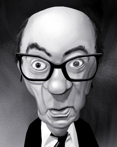 Juan Carlos Onetti Caricature