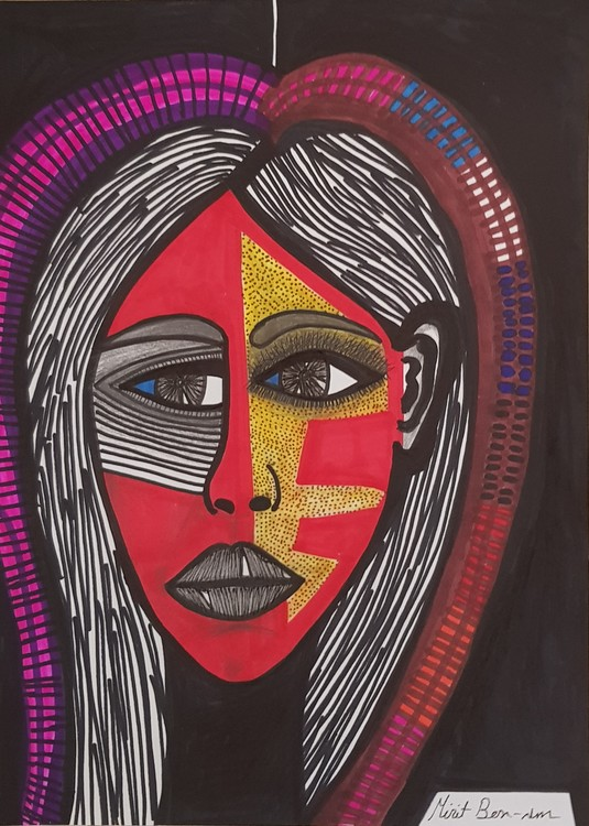Women artist from Israel powerful leading person
