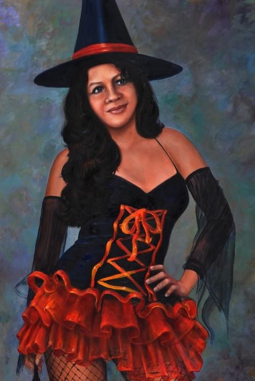 Elizabeth, bolivian Halloween beauty.