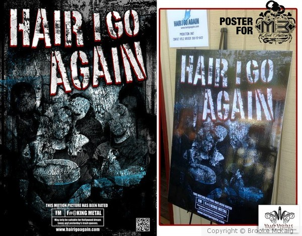 HAIR I GO AGAIN - Poster for M3 Rock Fest