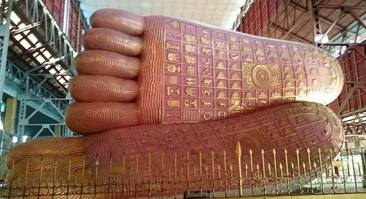 Yangon , Myanmar, Buddha's feet