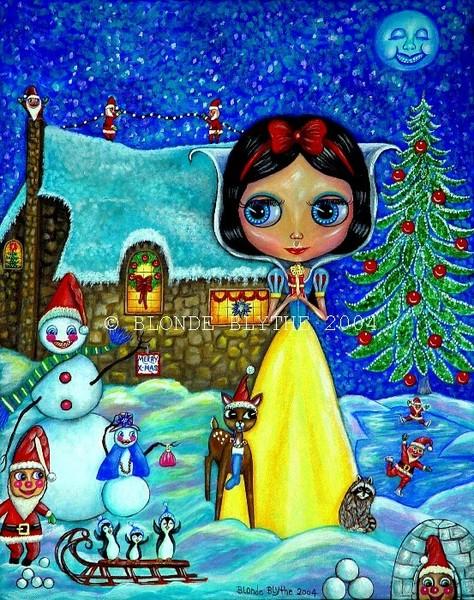 Snow White Blythe & the Seven Santa Dwarfs