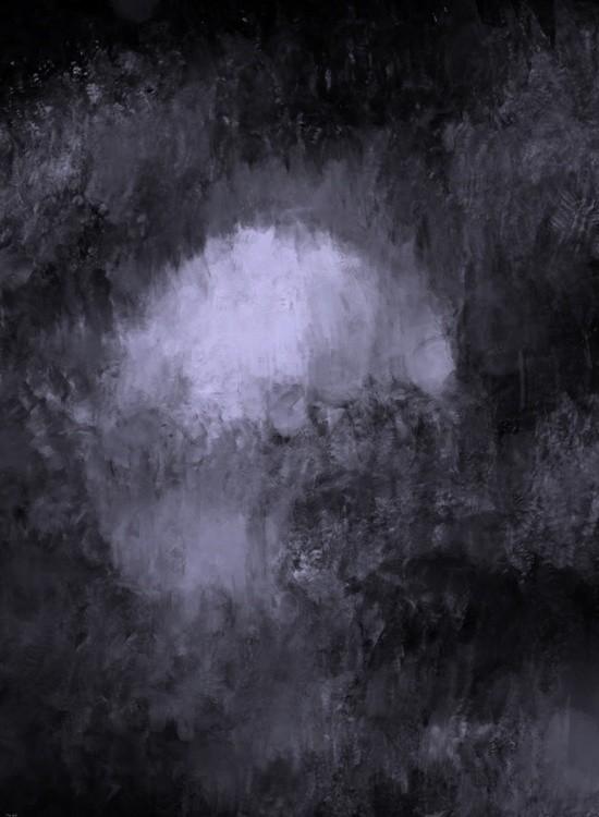 Moonlit Mountain Night