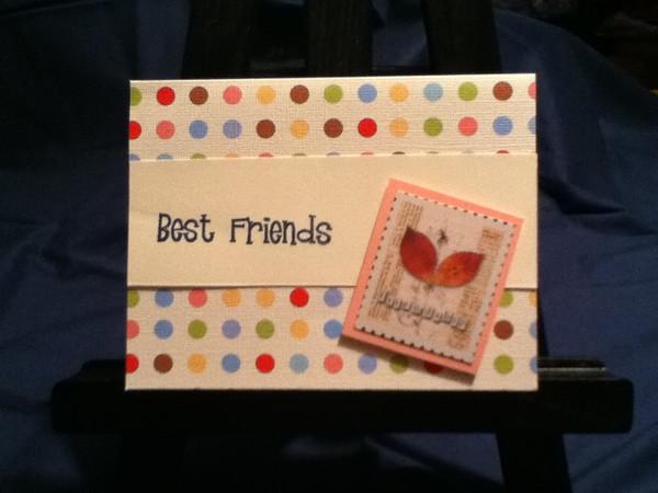 Best Friends Handmade Greeting Card By Jessica Mcdevitt Artwanted