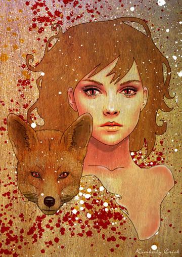 Kitsune - Japanese Fox Woman by Kimberly Crick | ArtWanted com