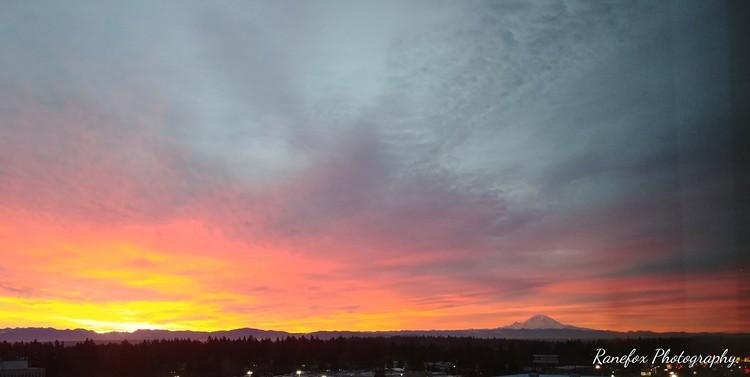 Pre-dawn view of Mr. Rainier