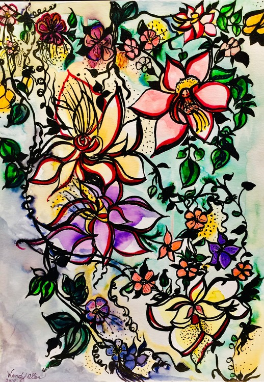 Watercolor Flowere