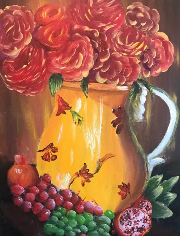 Vase of Roses