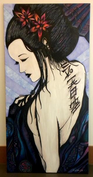 geisha dreams...acrylics