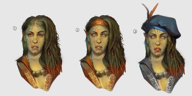 elf witcher head design