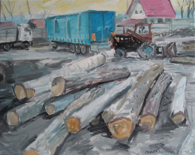 storage timber, 50x40cm