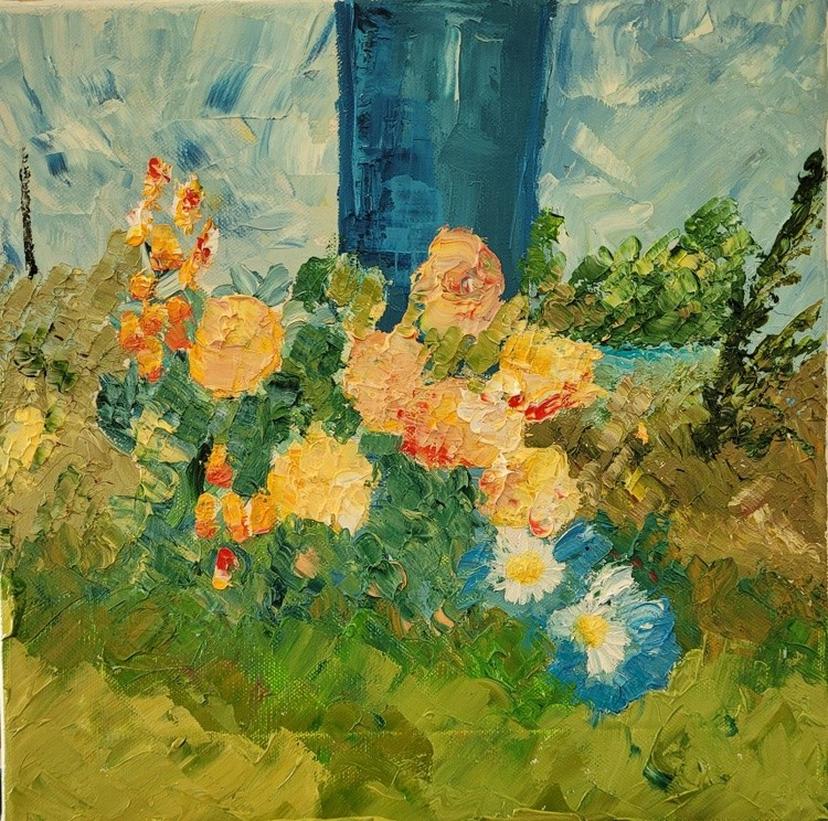 Flowers in a Courtyard, Sep. 2021