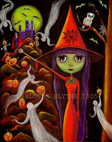 Halloween Spider Web Blythe Witch