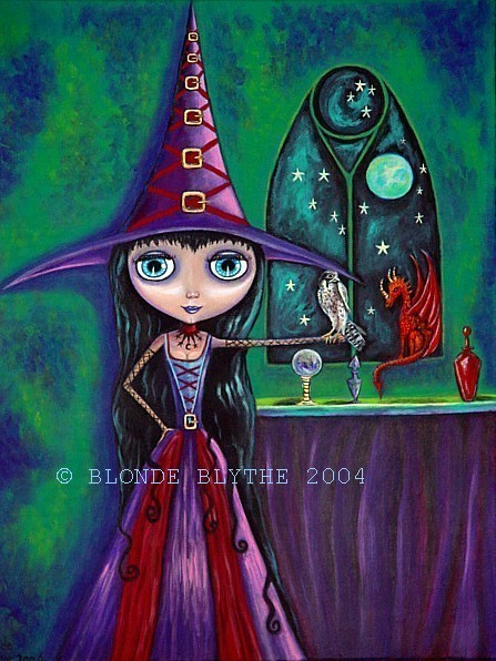 BLYTHE WITCH WITH FALCON & DRAGON